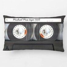 Индивидуальный Ретро Кассетный Свадебный Декоративный Чехол на подушку, Чехол на подушку, индивидуальный подарок от Lvsure для автомобиля, дивана, Чехол на подушку