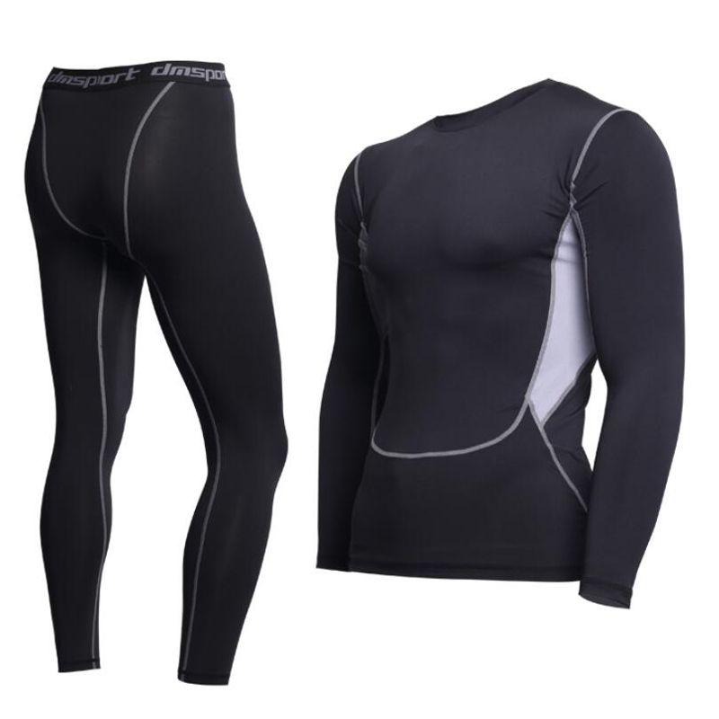 Brand New thermal underwear men underwear sets compression fleece sweat quick drying thermo Fitnessunderwear mens winter clothes(China)
