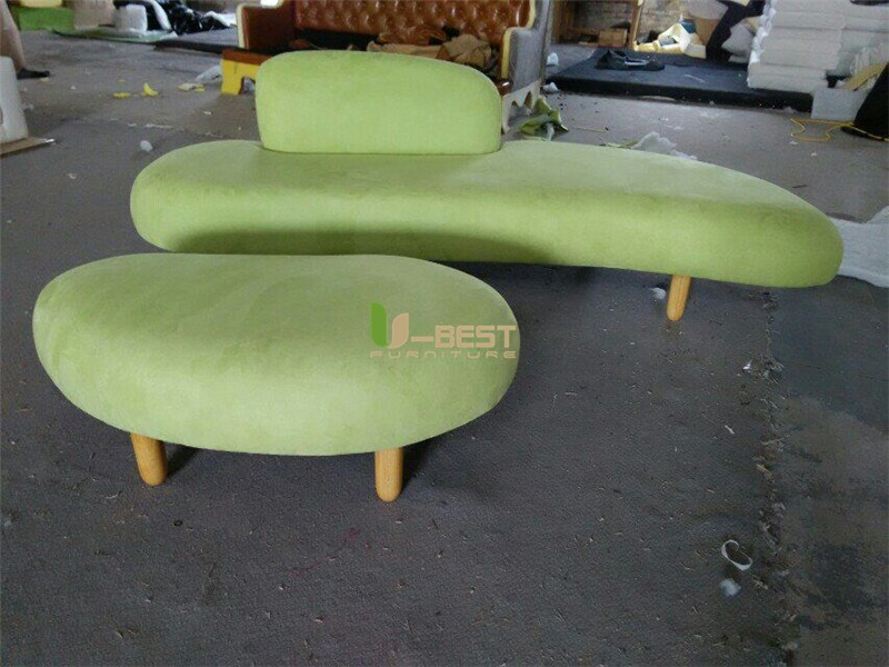 noguchi sofa with ottoman fabric sofa u-best sofa (2)
