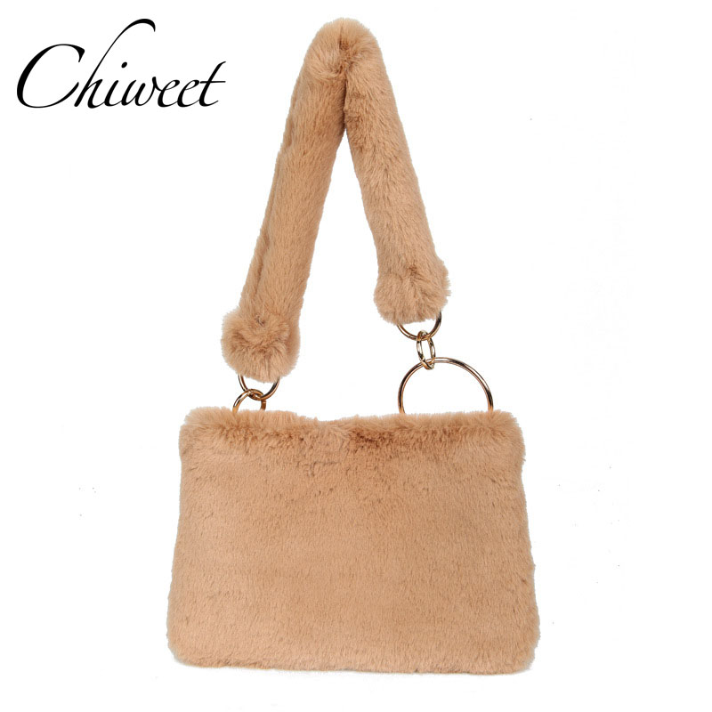 428eec8a98 Brand Large Envelope Clutch Designer Bags Luxury Handbags Women Shoulder Bag  Winter Faux Fur Tote Ladies Chain Messenger Bags