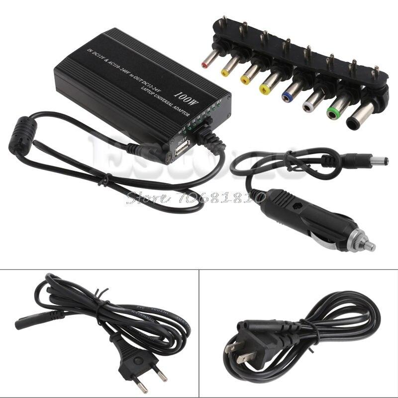 Автомобильное зарядное устройство постоянного тока, Универсальный адаптер переменного тока для ноутбука 100 Вт 5A, Прямая поставка