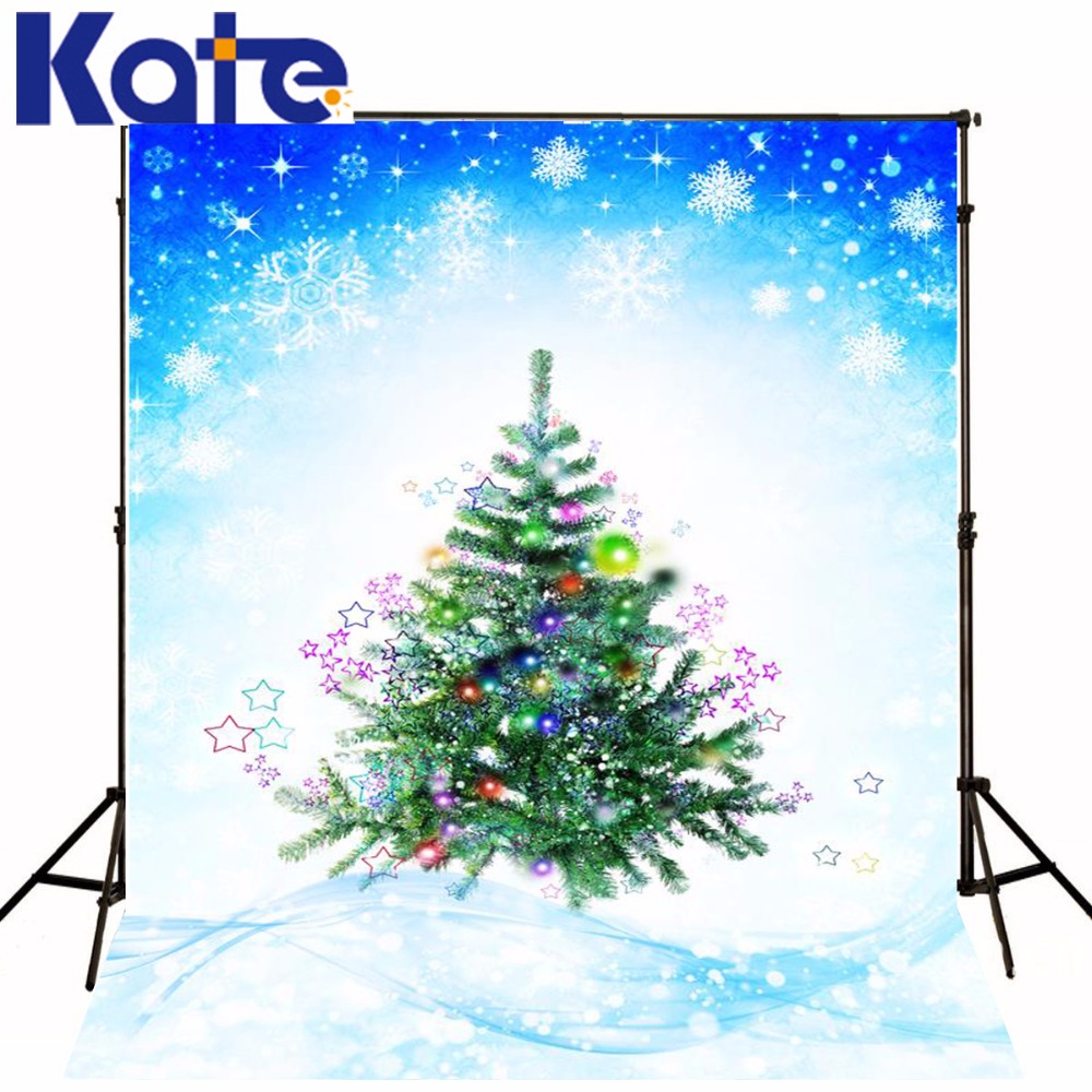 Kate Christmas Backdrops Photography The Christmas Tree Snow In The New Year Washable Photography Backdrop ZJ