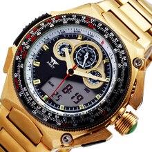 AMST Gold Sport Reloj de Los Hombres Relojes de Primeras Marcas de Lujo 2016 Reloj Hombre Reloj de Oro de Cuarzo Pantalla LED Reloj Relogio masculino
