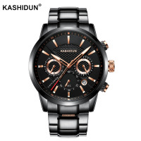 KASHIDUN Quartz Men Watches Top Brand Luxury Men Military Wrist Watches Full Steel Men Sports Watch