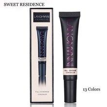 SWEET RESIDENCE Full Cover Liquid Concealer Moisturizing Oil-control Waterproof Contour Makeup Face Primer Face Cream Concealer недорого
