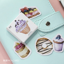 D46 45pcs /Pack Sweet Cake Dessert Adhesive Stickers DIY Tool Decorative Stick Label Decor Bookmark
