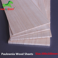 HAUBAY Paulownia Wood sheet 300x100x12/15/20mm long Wooden Sheets for DIY Crafting Airplane Boat Festival Fabulous February Sale