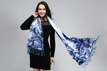 new arrival woman  Luxury high-grade Brand Designer 100% pure Silk Satin double-sided printing long Shawls  Free shipping-a10