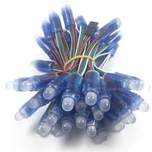 5 فولت 12 مللي متر led ws2811 بكسل وحدة 50 عقدة/سلسلة الرقمية rgb كامل اللون مقاوم للماء ip68 led سلسلة لعلامة الحروف