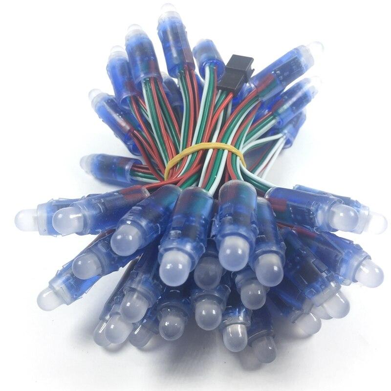 5v 12 millimetri led ws2811 modulo pixel 50 nodo/string digitale rgb di colore completo impermeabile ip68 led string per le lettere segno