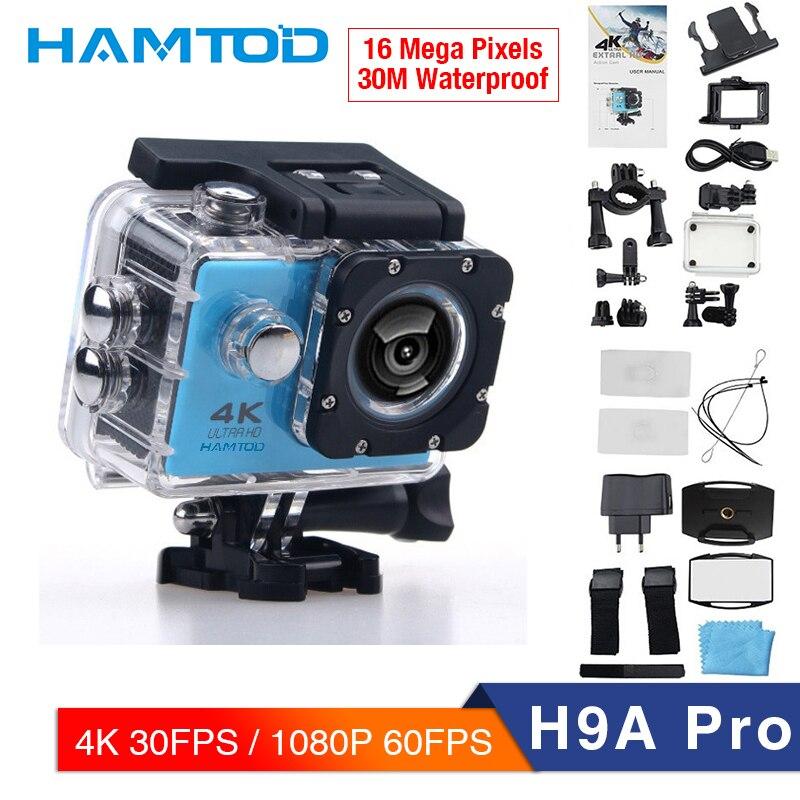 HAMTOD H9A Pro 2.0 pouces LCD 4k ultra HD 1080P caméra d'action prise en charge caméra Sport WiFi avec télécommande et boîtier étanche