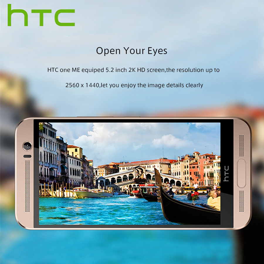 "Image 4 - Spain Delivery NEW HTC One ME M9ew Dual SIM 4G LTE Mobile Phone 5.2"" OctaCore 3GB RAM 32GB ROM 2560x1440P 20MP Android Callphone-in Cellphones from Cellphones & Telecommunications"