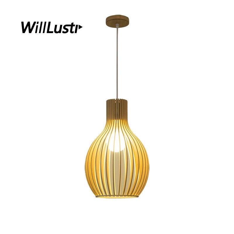 Creative Onion Bamboo Pendant Light Cage Wood Hanging Lamp Hotel Restaurant Sitting Room Bedroom Handmade Suspension Lighting