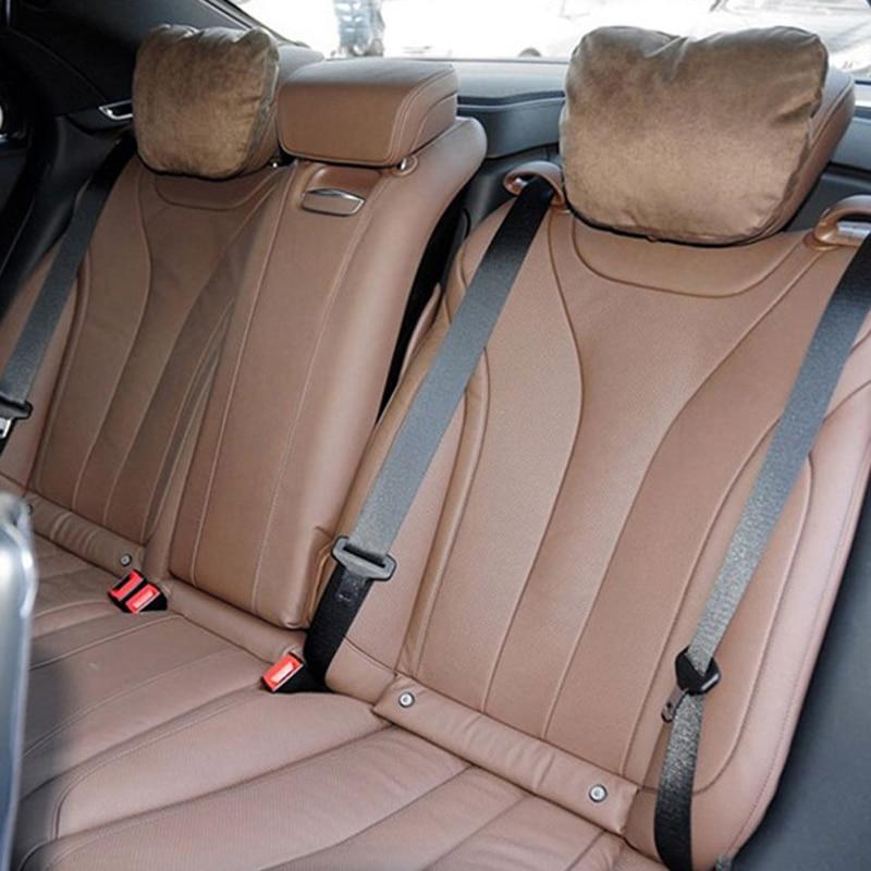 Araba Koltuğu Boyun Kadife Peluş Oto Kafalık Yastık Destekler - Araç Içi Aksesuarları - Fotoğraf 2
