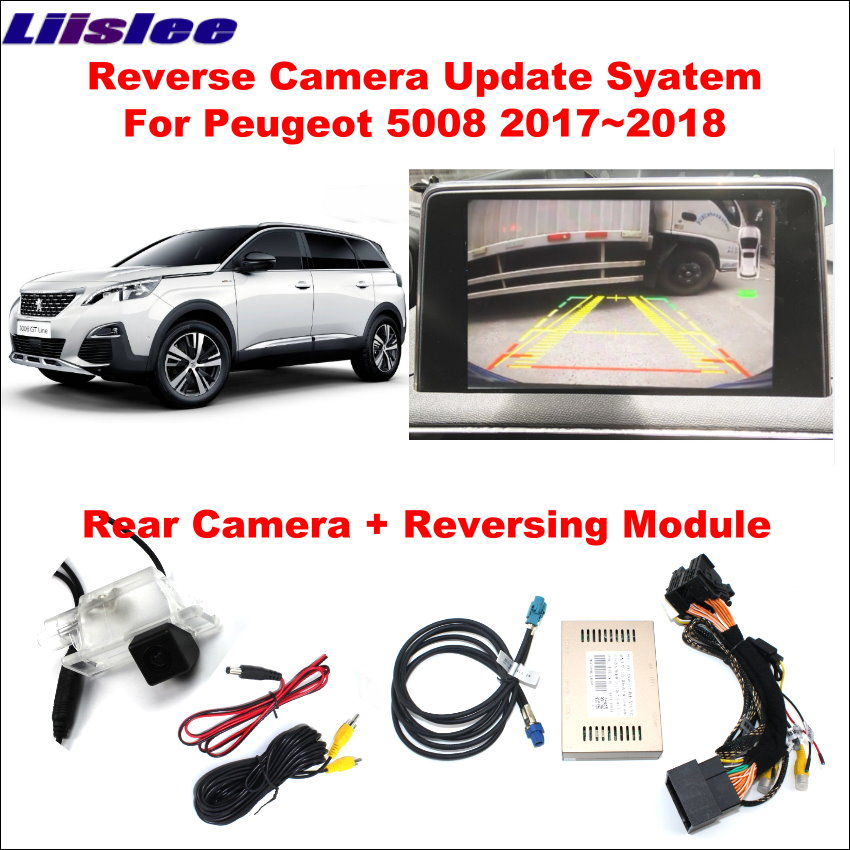 Liislee For Peugeot 5008 2017 2018 Original Screen Update System Reversing Track Image Module Reverse Camera