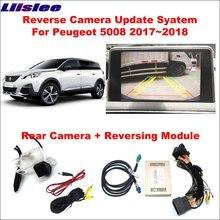 자동차 전면 반전 후면보기 카메라 푸조 5008 2017 ~ 2018 원래 화면 업 그레 이드 인터페이스 모듈 HD 디지털 디코더