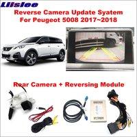 Liislee для peugeot 5008 2017 ~ 2018 оригинальный экран обновление/Реверсивный трек/модуль передачи изображения + Обратный камера/цифровой декодер