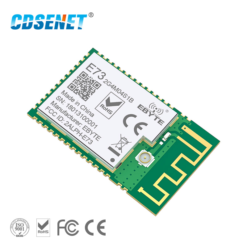 NRF52832 2.4 ghz Transceptor Sem Fio Módulo rf CDSENET E73-2G4M04S1B SMD 2.4 ghz Módulo Ble 5.0 transmissor Receptor Bluetooth