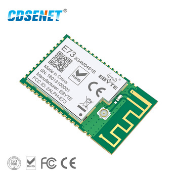 цена на nRF52832 2.4GHz Transceiver Wireless rf Module CDSENET E73-2G4M04S1B SMD 2.4 ghz Ble 5.0 Receiver transmitter Bluetooth Module