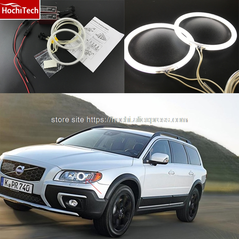 2012 Volvo Xc70: HochiTech WHITE 6000K CCFL Headlight Halo Angel Demon Eyes