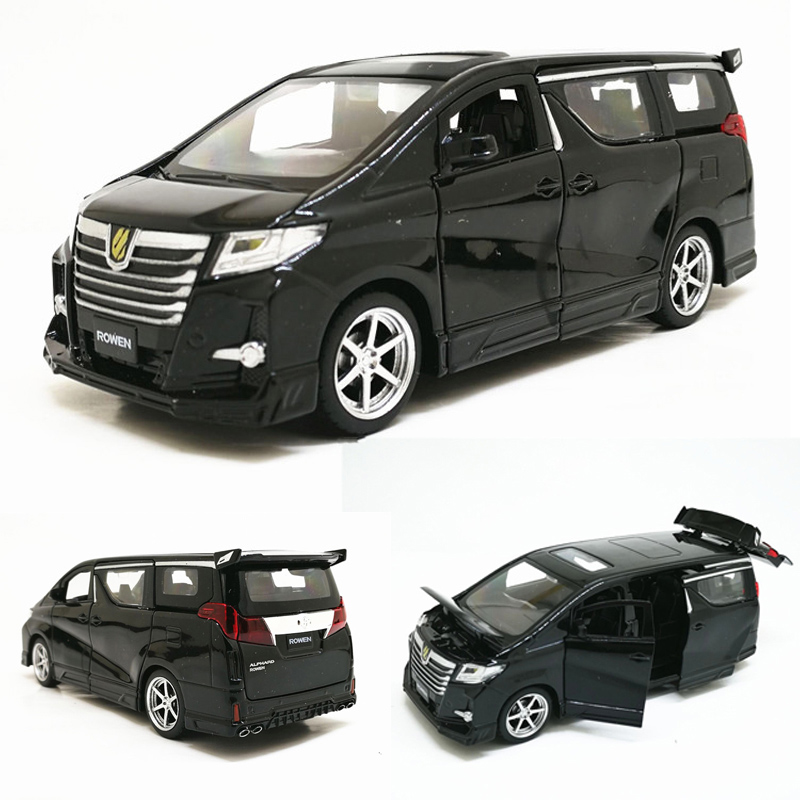 High Simitation 1:32 Toyota Alphard MPV Model Alloy Pull Back Car Model 4 Open The Door With Sound Light Kids Toys Free Shipping