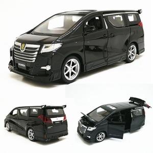 Image 1 - Hoge Simitation 1:32 Toyota Alphard Mpv Model Lichtmetalen Pull Back Auto Model 4 Open De Deur Met Geluid Licht Kids speelgoed Gratis Verzending