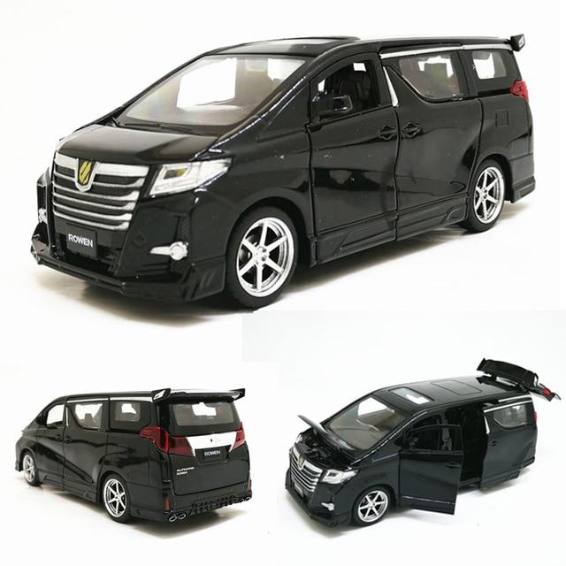 Hoge Simitation 1:32 Toyota Alphard Mpv Model Lichtmetalen Pull Back Auto Model 4 Open De Deur Met Geluid Licht Kids speelgoed Gratis Verzending