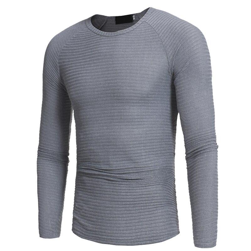 Suéter hombres 2018 marca casual Slim Suéteres hombres SOILD color vertical  rayas de cobertura o cuello del suéter de los hombres XXXL en Pullovers de  La ... f828c2651285
