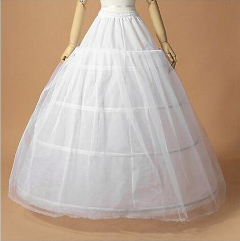 Bride wedding dress skirt three laps 1 yarn for adult women pannier/bustle full set
