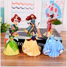 6pcs/set Princess toys Action Figures toys gift collection of children's toys Cartoon Mini Models Toys Gifts Home ornaments gift