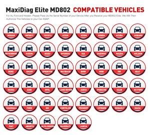 Image 5 - Autel maxidiagエリートMD802 diaglink OBD2スキャナーすべてのシステムカー診断ツールobd 2コードリーダーepbオイルリセットpk MD805 CRP129