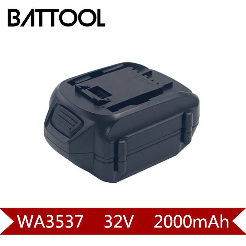 Batterie Rechargeable 1X2000 mAh 32 V Li-ion WA3537 pour WORX WG175, WG575, WG575.1 et WG924