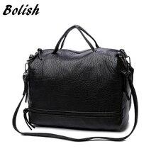 Bolish модные Водонепроницаемый PU кожаная сумка через плечо Винтаж Для женщин сумка мотоцикл сумка большой Для женщин сумки