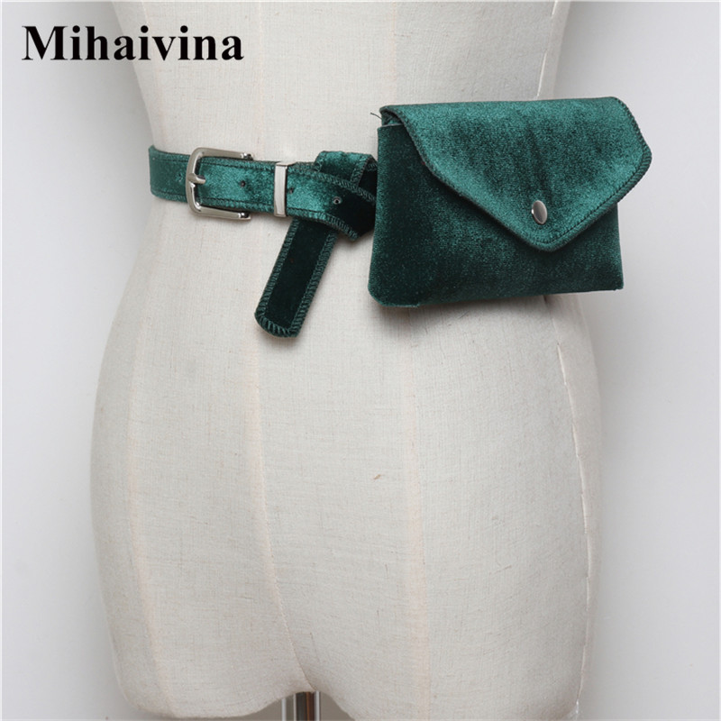Mihaivina Autumn Women Waist Belt Bag Suede Waist Pack Casual Fanny Pack Handbag On The Belt Female Phone Bags For Cards Key Bag