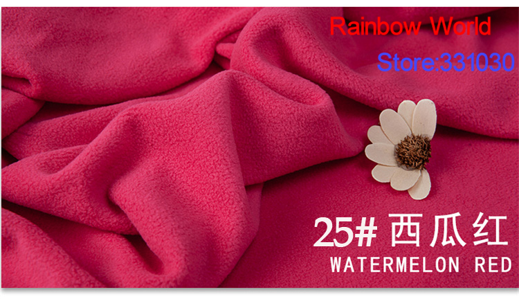25# watermelon red 1 meter soft brushed polar fleece fabric for DIY colthes stuffed toys <font><b>blanket</b></font> bedsheet cushion material