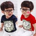 2016 Summer Dog Letter Boys Clothing Baby Child Boy Short-Sleeve T-Shirt