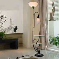 Modern minimalist floor lightd living room bedroom double black and white fashion with table creative design floor lamps ZA