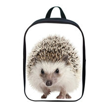 Hot Sale Oxford 12 Inches Printing Animal Hedgehog Kids Baby School Bags Boys Mini Backpacks for Children Schoolbag Small Girl(China)