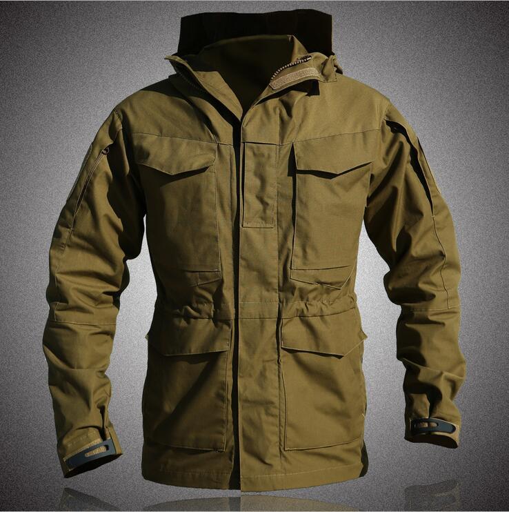 M65 UK US armée vêtements tactique coupe-vent hommes hiver automne imperméable vol pilote manteau à capuche militaire champ veste