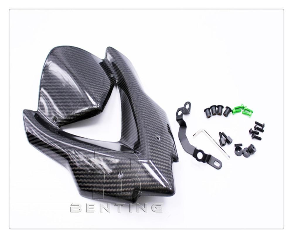 Motorcycle Black Carbon Fibre Front Windshield Windscreen For Kawasaki Z1000 Z 1000 2014-2017 15 16 black motorcycle front