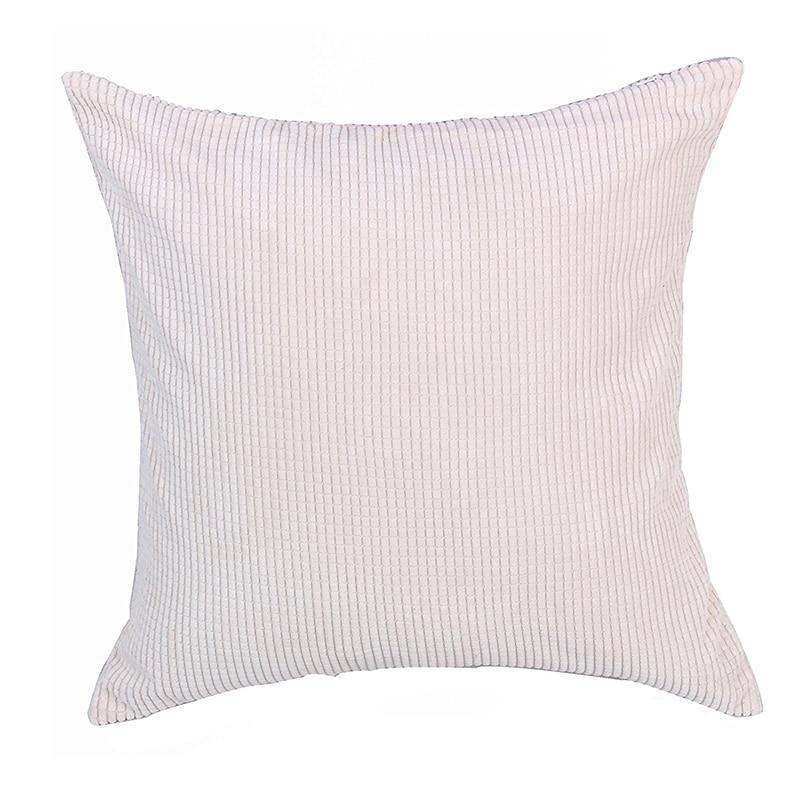 Corn Kernels Wick Cotton Square Home Decor Throw Sofa Car Cushion Cover Pillow Case 50*50cm white