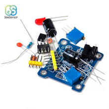 NE555 Frequency Duty Pulse Generator Cycle Square Wave Rectangular Wave Signal Adjustable Electronic DIY Kit Module 555 Board diy 555 multi wave signal generator circuit kit