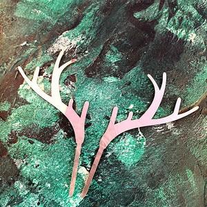 Image 5 - 2個メリークリスマスアクリルケーキトッパーゴールド鹿ヘラジカ枝角アクリルカップケーキトッパーパーティーケーキの装飾クリスマス2021