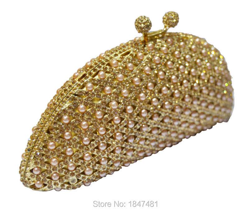 女性クリスタルバッグインレイビーズファッションイブニングバッグ小さなクラッチパーティー財布レディースシャンパンウェディングポシェットバッグSC259