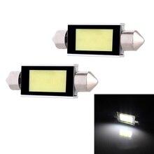 Festoon Double pointed 41mm 5W 340lm COB LED White Light Car Auto Reading Lamp Dome Bulb - (12V / 2 PCS)