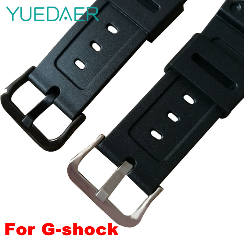 YUEDAER Black Watch Band For Casio G-shock GW-M5610 <font><b>DW</b></font>-5600/<font><b>5700</b></font>/6900 Replacement Strap Rubber Metal Buckle Belt Watchband image