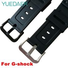 YUEDAER Black Watch Band For Casio G-shock GW-M5610 DW-5600/
