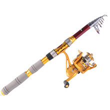 Portable Spinning Fishing Rod Carbon Fiber Pole Sea Boat Rock Fishing Rod