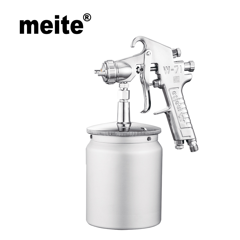 цена на Meite MT-W71-153S air paint spray gun HVLP in nozzle size 1.5mm with 600ml cup Jan.10 update tool