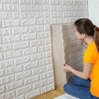70x77cm PE Foam 3D Wall Stickers Safty Home Decor Wallpaper DIY Wall Decor Brick Living Room
